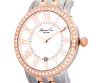 Kenneth Cole Women's 35mm Mother of Pearl Stone Bezel Watch - Rose Gold/Silver 3