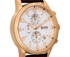 Hugo Boss Men's 44mm Aeroliner Chronograph Watch - Brown 2