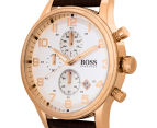 Hugo Boss Men's 44mm Aeroliner Chronograph Watch - Brown 3