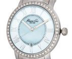 Kenneth Cole Women's 35mm Mother of Pearl Stone Bezel Watch - Silver 3