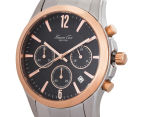 Kenneth Cole Men's 40mm Chronograph Watch - Silver/Rose Gold 3