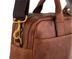 Fossil Men's Wyatt Top Zip Work Bag - Brown 5