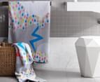 Cosi Kids' 75 x 150cm Bath Towel - Rainbow Rain 2
