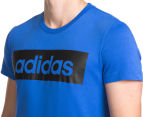 Adidas Men's Sport Essentials Lin Tee - Blue 6