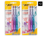 2 x BiC Clic-Matic Mechanical Pencil 3-Pack - Multi/Floral 1