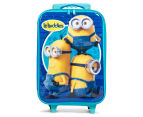 Minions Kids' 50cm Soft Shell Rolling Luggage - Blue 1