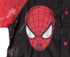 Spiderman Kids Raincoat - Black/Red 3