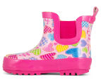 Hearts Girls' Rainboot - Pink 3