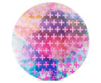 Cooper & Co. 60cm Round Canvas Wall Art - Pink Crosses 1