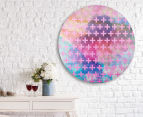 Cooper & Co. 80cm Round Canvas Wall Art - Pink Crosses 6
