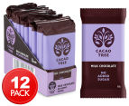 12 x Cacao Tree Milk Chocolate No Added Sugar Bars 50g 1