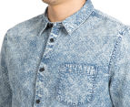 Mossimo Men's Lincoln Long Sleeve Shirt - Denim 6