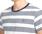 Mossimo Standard Issue Striped Crew Tee - White/Navy Blue 6