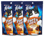 3 x Purina Felix Classic Party Mix Cat Treats 60g 1