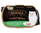 10 x Fancy Feast Royale Appetisers Chicken & Flaked Tuna 57g 2