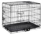 Portable 50x43.5x61.5cm Foldable Metal Dog Cage- Black 1