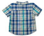 Funky Babe Baby Check Shirt With Pocket - Royal 2