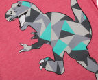 Urban Crusade Junior Kids' Abstract Dinosaur Tee - Red Marle 3