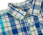 Funky Babe Baby Check Shirt With Pocket - Royal 3