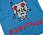 BQT Baby Robot Hug Tee - Denim Marle 3