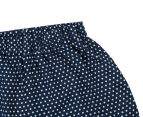 Funky Babe Junior Girls' Spotty Pom Pom Shorts - Navy 3