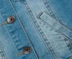 Funky Babe Junior Girls' Stretchy Denim Vest - Light Blue 4