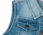 Funky Babe Junior Girls' Stretchy Denim Vest - Light Blue 5