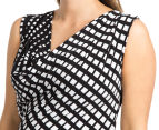 Ripe Maternity Trellis Dress - Black/White 6