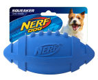 NERF Dog Medium Squeaker Rubber Football - Blue 1