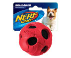 NERF Dog Medium Squeaker Bash Tennis Ball - Red 1