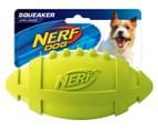 NERF Dog Medium Squeaker Rubber Football - Green 1