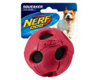 NERF Dog Large Squeaker Bash Tennis Ball - Red 1