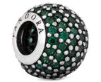 Pandora Pavé Lights Ball Charm - Silver/Green 1