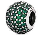 Pandora Pavé Lights Ball Charm - Silver/Green 2