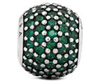 Pandora Pavé Lights Ball Charm - Silver/Green 3