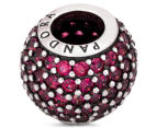 Pandora Red Pave Lights Ball Charm - Red 4