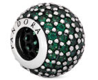 Pandora Pavé Lights Ball Charm - Silver/Green 5
