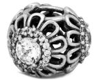 Pandora Floral Brilliance Charm - Silver/Clear 6