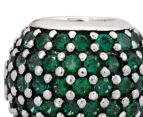 Pandora Pavé Lights Ball Charm - Silver/Green 6
