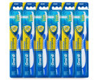 6 x Oral-B Advantage Complete Antibacterial Toothbrush Medium - Blue 1