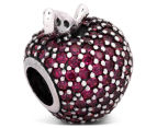 Pandora Apple Pavé Charm - Silver/Red/Green 5