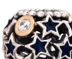 Pandora Night Sky Charm - Silver/12K Gold/Midnight Blue 6