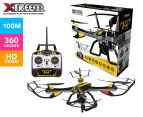 Xtreem FlyEye Quadcopter 720p Video Drone - Yellow/Black 1