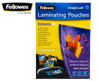 Fellowes A4 Glossy 80 Micron Laminating Pouch 100-Pack 1