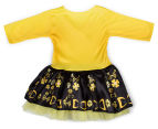 The Wiggles Girls' Size 1-3 Years Emma Ballerina Dress Up Costume - Yellow/Black 2