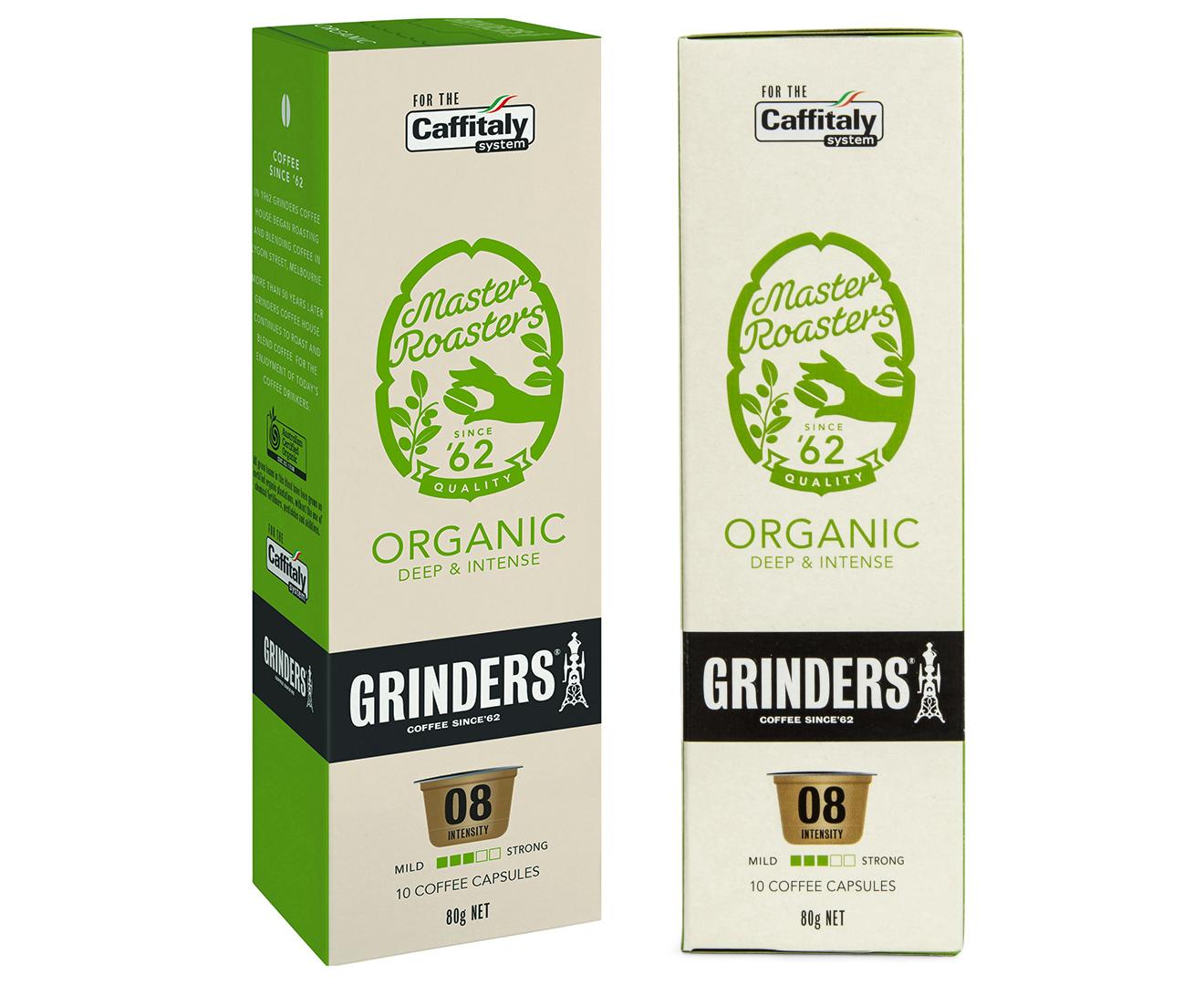 8 x Grinders Master Roasters Organic Coffee Capsules 10pk 2