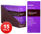 15 x The Chocolate Counter Mylk Chocolate Cashew Bars 50g 1