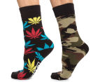 Unit Men's Deluxe Novelty Socks 2-Pack - Camo/Multi 1
