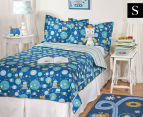 Living Textiles Robot Single Bed 3-Piece Comforter Set - Blue 1