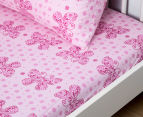 Living Textiles Baby 2-Piece Butterfly Cot Sheet Set - Pink 2
